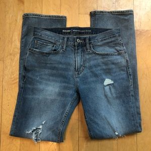 Old Navy men's distressed boot cut jeans